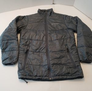 COLUMBIA Men's Gray Full Zipper Front Insulated 65